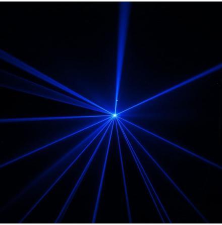 WOOKIE 600 B - Animation Laser 600 mW blue