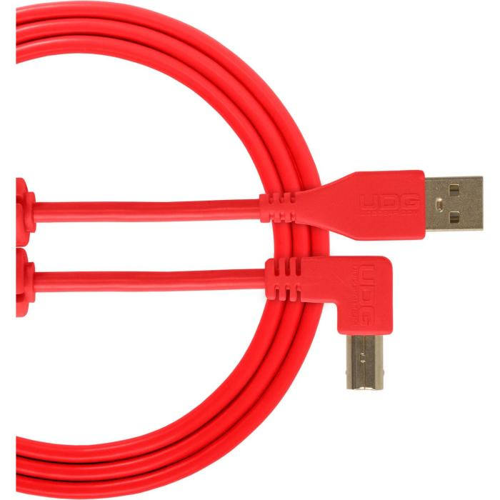 Ultimate USB 2.0 A-B Red Angled 3m